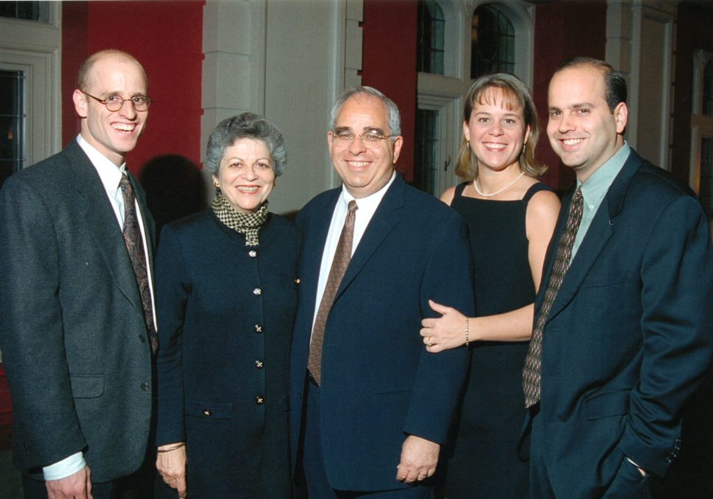 Harold with his wife Marlene, sons Andrew and Robert and daughter-in-law Kristin